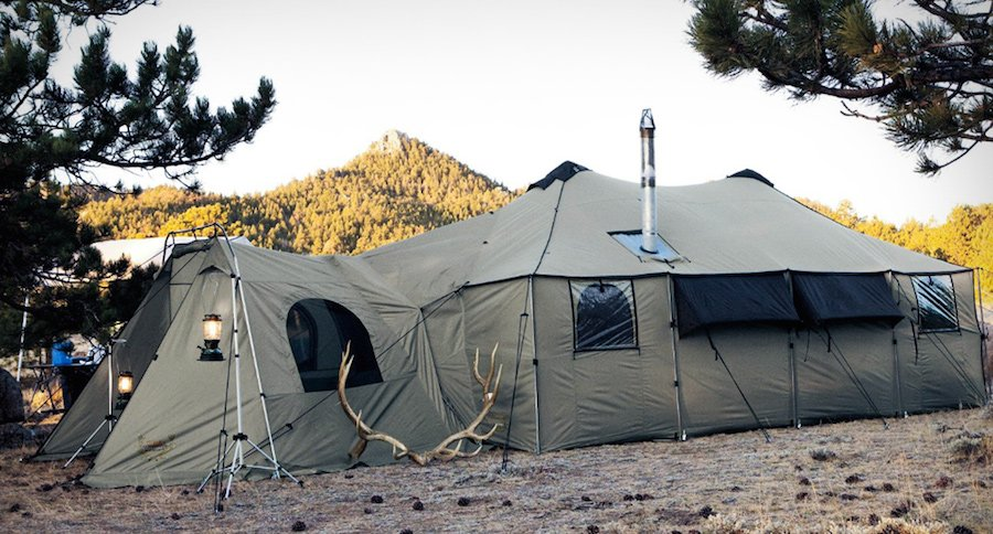 & Would You Go Camping in This Tent Mansion From Cabelau0027s?