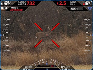 This is what a Tracking Point scope HUD looks like. Image via Tracking Point