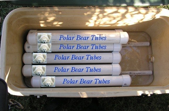these diy polar bear tubes are incredible. Black Bedroom Furniture Sets. Home Design Ideas
