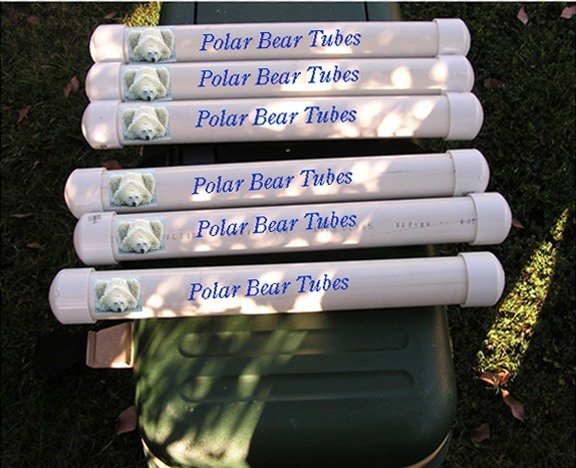 PVC Fishing Polar Bear tubes