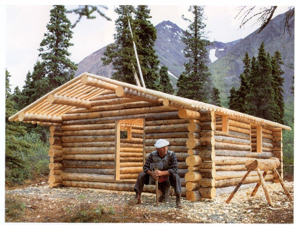 Flawless Log Cabins Of Home Design As For The Chimney Being Partially
