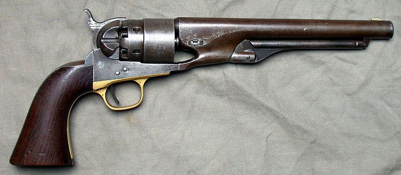 An 1860 Army revolver. (Wikimedia Commons)