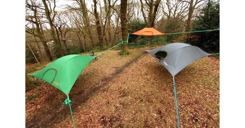 Tent With Shelter Trees : Weird campers and tents pics wide open spaces