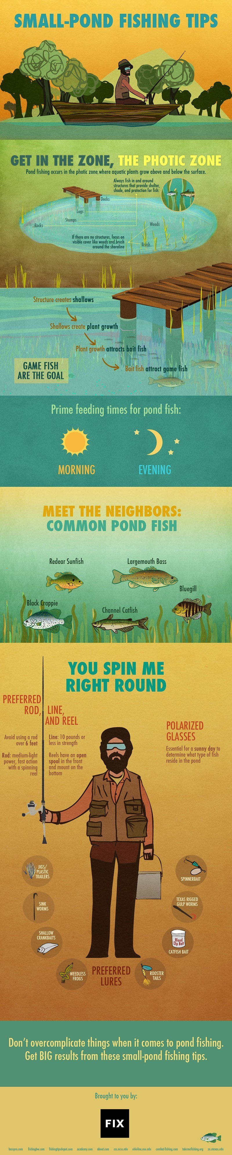 Outdoorsmen Infographics - Small-Pond Fishing Tips