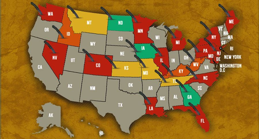 this infographic explains the knife laws in all 50 states