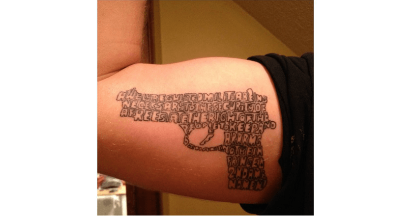 2nd amendment tattoo