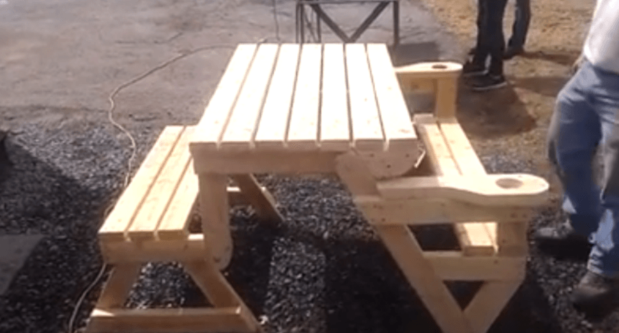 This Folding Picnic Table Is The Next Great Thing For That Backyard Barbecue Video