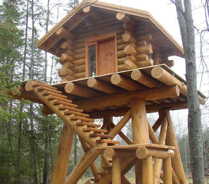 Log Cabin Deer Stand 1