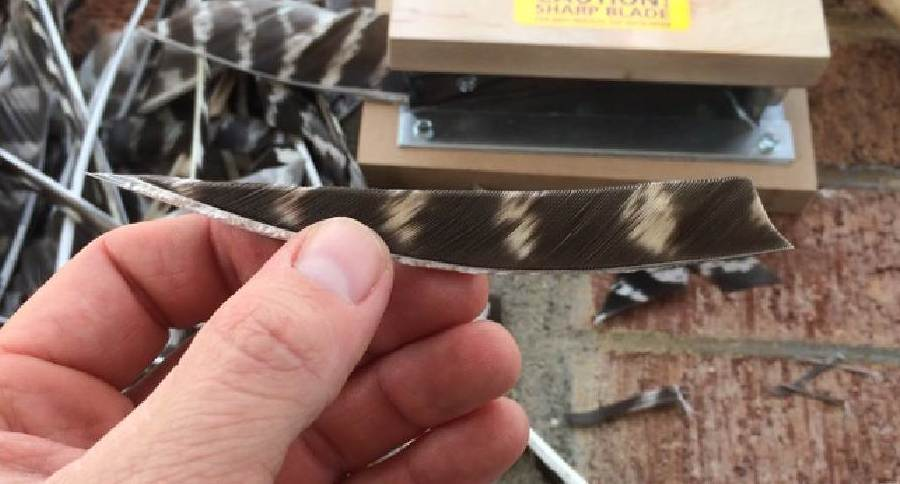 diy turkey feather fletching
