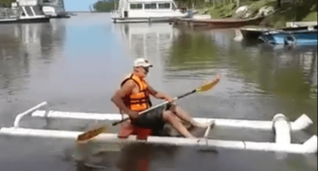 Build This Diy Kayak For Only 50 Using Pvc Materials