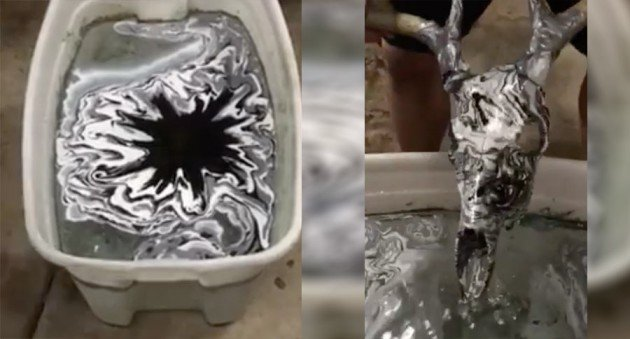 Spray Paint Dipping In Water