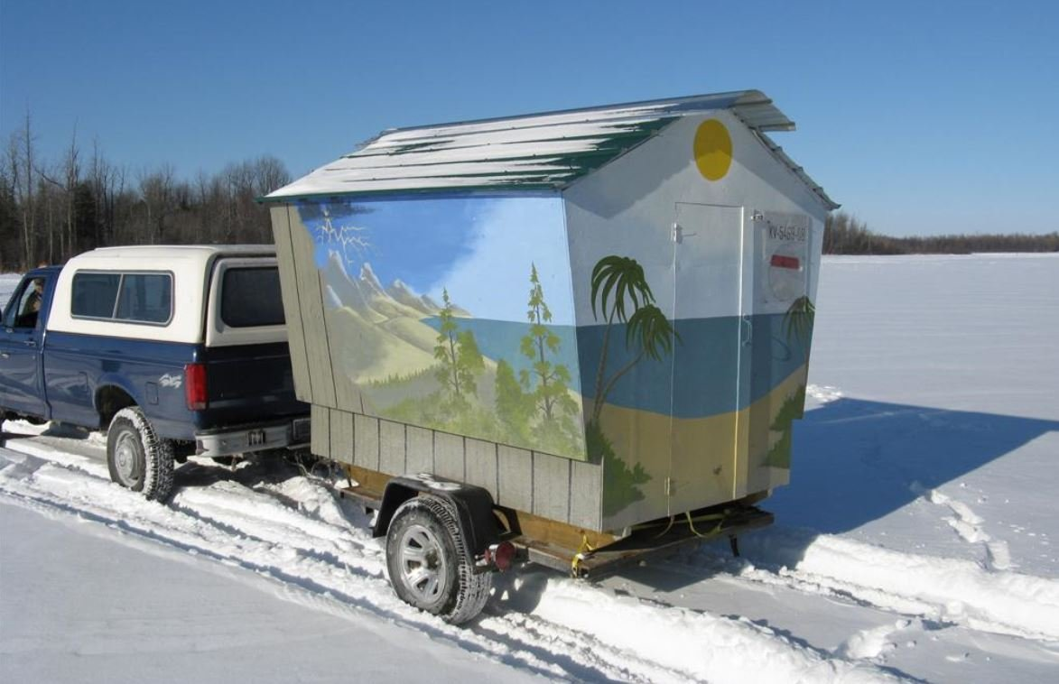 13 bizarre fish houses you probably wouldn 39 t use for Ice fishing tents