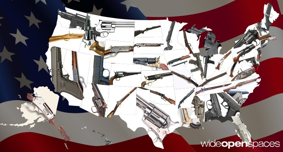 The most iconic gun for each state