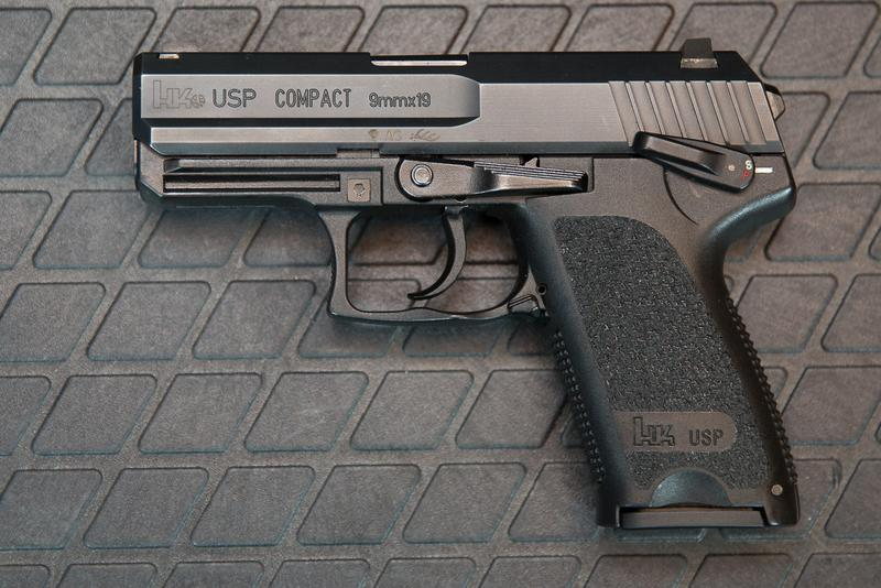 H&K USPc 9mm - Photo via: http://www.hkpro.com/forum/hk-handgun-talk/200335-just-picked-up-usp9c-2.html
