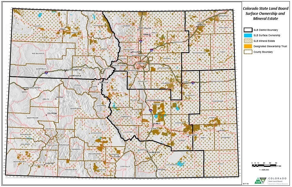 State Lands In Colorado. Colorado State Land Board