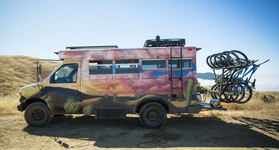 Short Bus Turned Camper Conversion Makes The Most Of