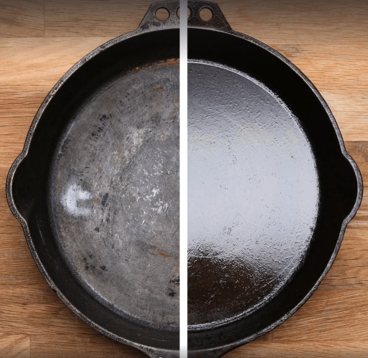 how to season and clean cast iron skillet
