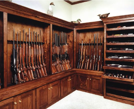 20 gun rooms that can make a grown man cry for Walk in gun safe plans