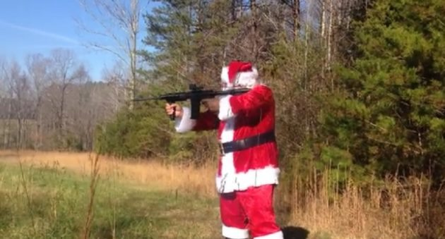 Santa Claus shooting