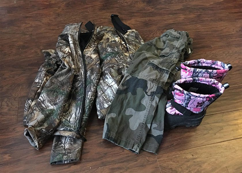 hunting with kids clothes gear