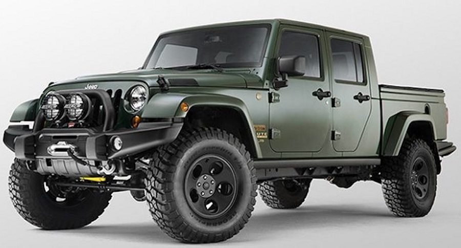 it 39 s finally happening the jeep wrangler pickup truck. Black Bedroom Furniture Sets. Home Design Ideas