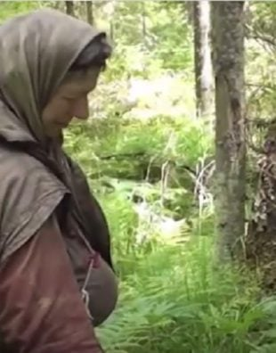 woman hermit in russia