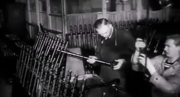 german mg34 machine guns being built
