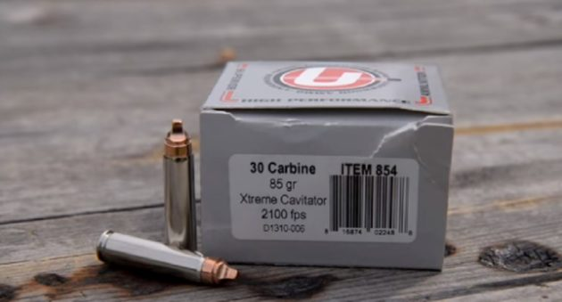 underwood .30 carbine xtreme cavitator ammunition