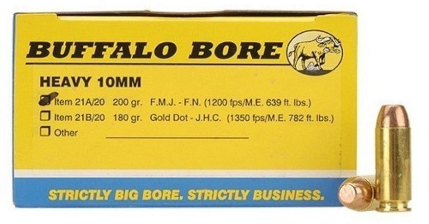 Here's The Best 10mm Auto Ammo For Self-Defense 200gr buffalo bore