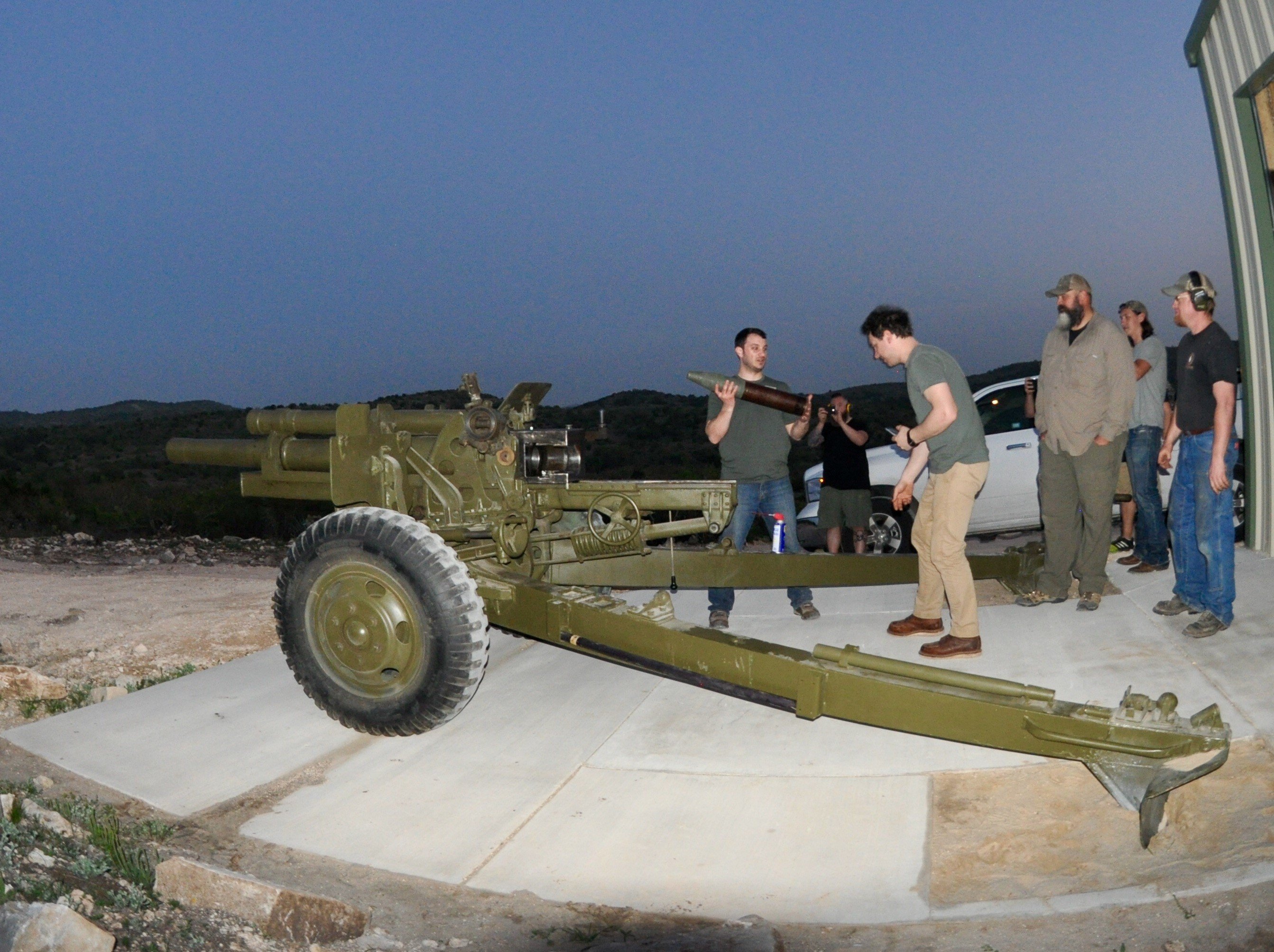105 mm howitzer group